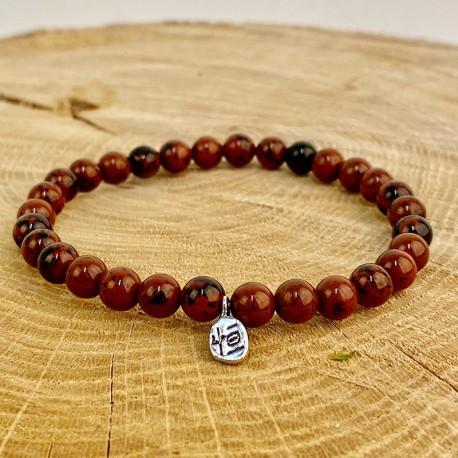Mahogany mahogany obsidian bracelet