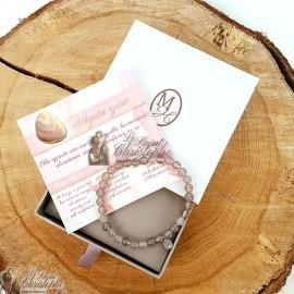 Bracelet en pierre naturelle Agate grise