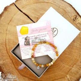 Bracelet en pierre naturelle Jade jaune