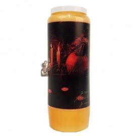 Halloween orange Novene Kerze - Samhain Kürbisse transparent