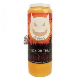 Halloween oranje novene kaars - Trick or Treat