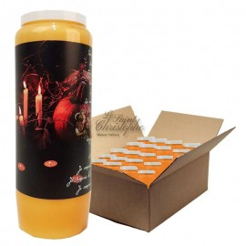Novena candles orange Halloween Samhain pumpkins - box 20 pcs