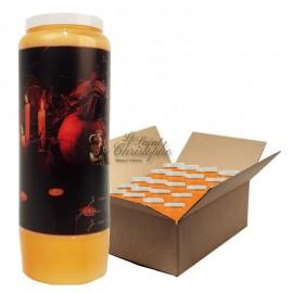 Halloween orange Novenakerzen - Samhain Kürbisse 2 - Karton 20 Stück