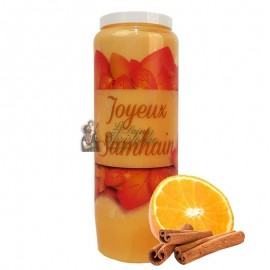 Vela de la novena de Halloween con aroma a naranja y canela - Samhain