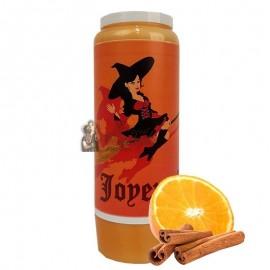 Vela de la novena de Halloween con aroma a naranja y canela - Bruja