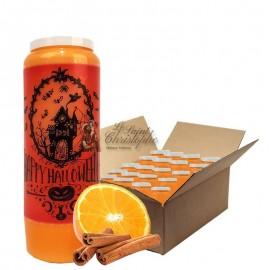 Velas Novena con aroma a naranja y canela caja de mansiones de Halloween 20 unidades