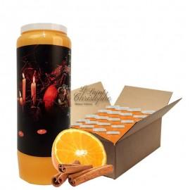 Velas Novena con aroma a naranja y canela Halloween Samhain 1 caja de 20 unidades