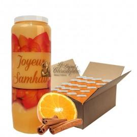 Velas Novena con aroma a naranja y canela Halloween Samhain 3 cartones 20 unidades