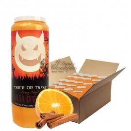 Velas Novena con aroma a naranja y canela Halloween Trick-Treat cartón 20 unidades