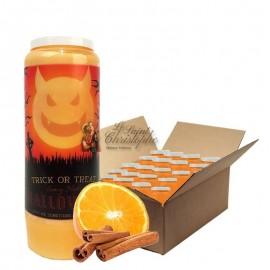 Velas Novena con aroma a naranja y canela Halloween Trick-Treat 2 cartones 20 unidades