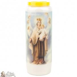 Bougie Neuvaine  à la Vierge du Scapulaire - prière Français