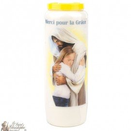Novena Candle Thank you for the Grace obtained - French prayer