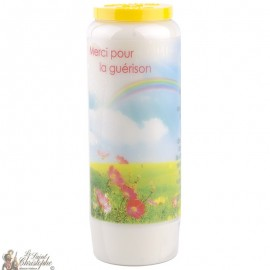 Novena Candle Thank you for the healing - French prayer