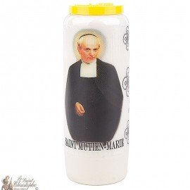 Novena Candle to Saint Mutien-Mary -  French Prayer