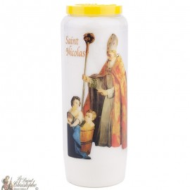 Novena Candle to Saint Nicolas model 2 - French Prayer