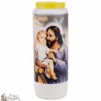 Novena candles with image
