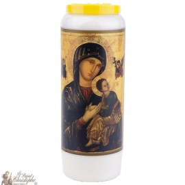 Novena candle to Our Lady of Perpetual Help - French prayer