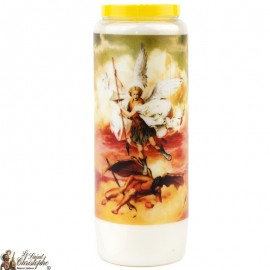Novena candle to Saint Michael Model 1 - French Prayer