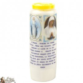 Novena Candle the the Virgin from Banneux and Miraculous - French Prayer