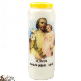 Novena Candle to Saint Joseph model 1 - French prayer
