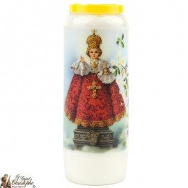 Novena candle to the Little Jesus of Prague - prayer