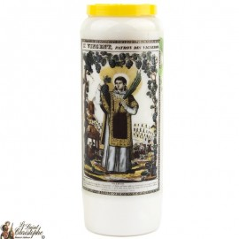 Novena Candle to Saint Vince - French Prayer