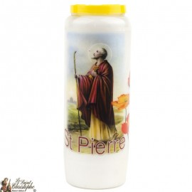 Novena Candle to Saint Peter - French Prayer