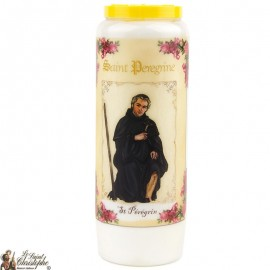Novena Candle to Saint Peregrine - French Prayer