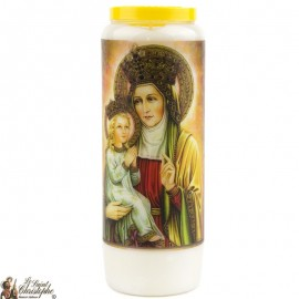 Novena Candle to Saint Anna - French Prayer