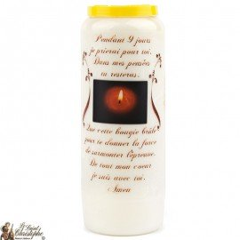 Novena Candle Nine Days Prayer - French prayer