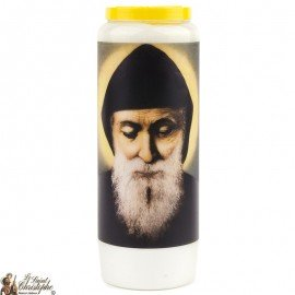 Novena Candle to Saint Charbel - French Prayer