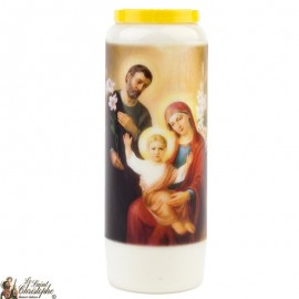 Novena Candle to  the Holy Family - French Prayer