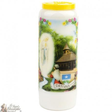 Bougie Neuvaineà la Vierge de Banneux - prière Allemand