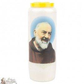 Bougie Neuvaine  au Padre Pio - Prière français