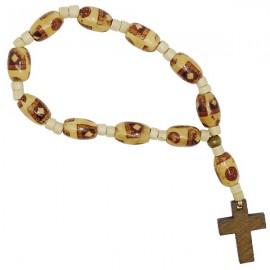 Bracelet dizaine en bois élastique