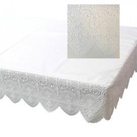 Altartuch bestickt mit Spitze auf 3 Seiten
