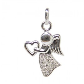angel pendant strass - silver 925