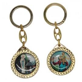 Porte-clés Saint Christophe et apparition de Banneux