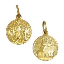 Médaille Vierge de Banneux métal doré