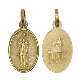 Médaille de la Vierge de Banneux couleur cuivrée