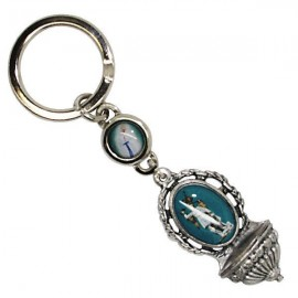 Saint Michael key ring with Banneux Appearance