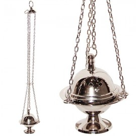 Silver incense burner with chain