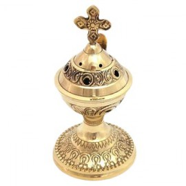 Encensoir d'église en cuivre avec poignée