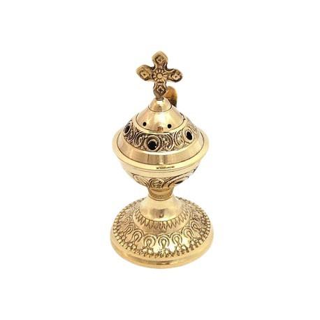 Encensoir d'eglise en cuivre avec poignée