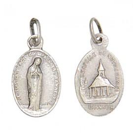 Médaille Vierge de Banneux N.D - argent 925 antique