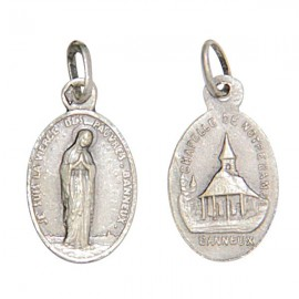 Medal of the Virgin of the Poor of Banneux N.D - silver 925 antique