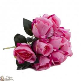 Bouquet fleurs - 10 Roses rose
