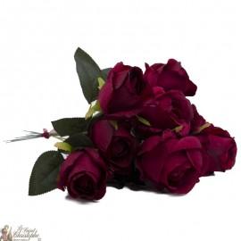 Bouquet fleurs - 10 Roses rouges
