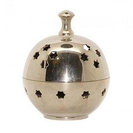 Encensoir boule argentée à motif étoilé