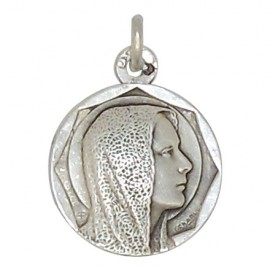 Medal of the Virgin Mary face - silver 925 antique